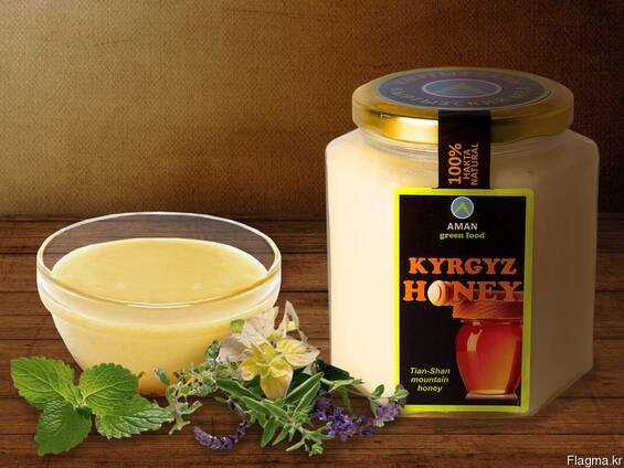 "Natural white honey ""Kyrgyz Honey"""