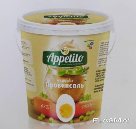 "High-calorie ""Appetito"" mayonnaise Provencal 67%"