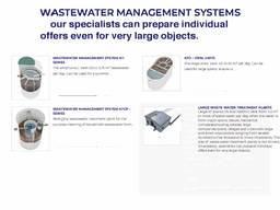 Patented wastewater technology ( with certification from the european union)